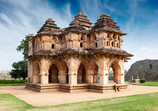Lótus Mahal - ruínas do palácio fotos de stock royalty free