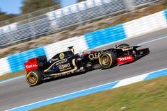 Lótus Renault F1 da equipe, Kimi Raikkonen, 2012 Imagem de Stock Royalty Free
