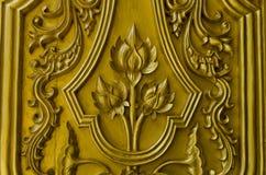 Lótus Tailândia do ouro do teste padrão Fotos de Stock Royalty Free