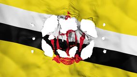 Löcher in Brunei-Flagge lizenzfreie abbildung