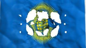 Löcher im Commonwealth der Nationsflagge stock abbildung
