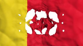 Löcher in Moroni-Flagge stock abbildung