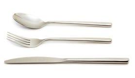 Löffel, Gabel und Messer Stockbilder