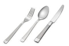 Löffel, Messer, Gabel Stockbild
