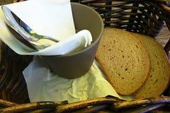 Löffel und Brot Lizenzfreie Stockfotografie