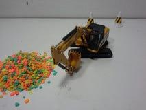 Löffelbaggervorbereitung stockbild