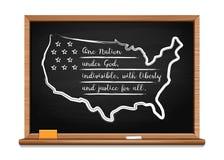 Löftet av trohet av Förenta staterna vektor illustrationer