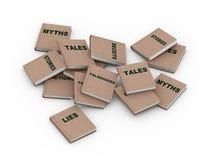 lögnböcker för myt 3d Arkivfoto