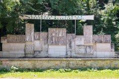 lökformig Dryanovo kloster MonumentApril epos royaltyfri fotografi