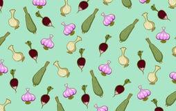Lökpumpor och andra grönsaker Arkivfoton