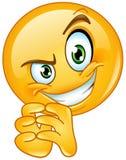 Lömsk emoticon royaltyfri illustrationer