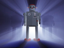 Löneförhöjning av robotarna Royaltyfria Foton