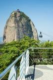 Löneförhöjning till Pão de Açucar Kulle Royaltyfria Bilder