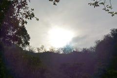 Löneförhöjningen av solen Arkivfoton