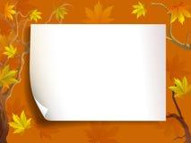 Lönn för höstsidor och med papperbakgrund stock illustrationer