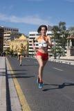 Löpare i ett lopp Royaltyfria Foton