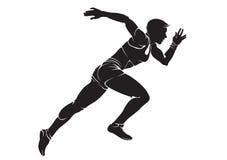 Löpare-kvinna Arkivfoto
