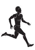 Löpare-kvinna Royaltyfri Bild