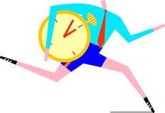 Löpare med stopwatchen vektor illustrationer