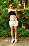 löparetrailkvinna royaltyfri foto