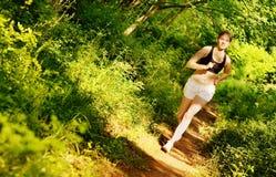 löparetrailkvinna Fotografering för Bildbyråer