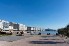 lördag December 3rd 2016 - parkera på stranden av Thessaloniki, Grekland Fotografering för Bildbyråer