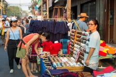 lördag marknad i Chiang Mai, Thailand Royaltyfri Fotografi