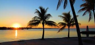 lördag solnedgång Arkivbild
