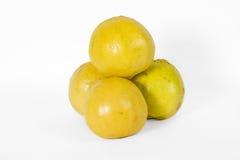 Lös citron på vit fotografering för bildbyråer