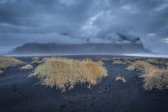 Lös isländsk strand Arkivbild