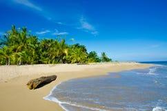 Lös strand Chiquita och Cocles i Costa Rica royaltyfri foto