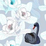 Lös svan på mjuk bakgrund vektor illustrationer