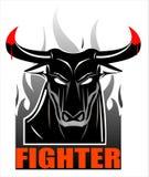 Lös svart tjur på röken stock illustrationer