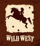 Lös västra bakgrund 2 Stock Illustrationer