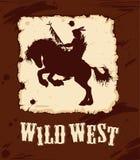 Lös västra bakgrund 3 Royaltyfri Illustrationer