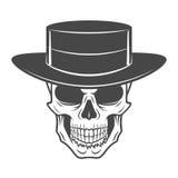 Lös västra skalle med hatten Le roverlogo Royaltyfri Fotografi