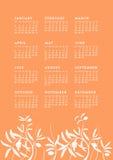 Lös vegetationkalender Arkivfoto