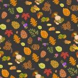 Lösa beståndsdelar för sömlös färg av naturen Arkivbild