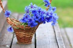 Lösa blommor i korgen Royaltyfria Bilder