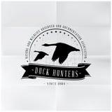 Lösa Duck Hunters Badge Royaltyfri Bild