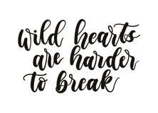 Lösa hjärtor är mer hård att bryta inspirerande bokstäverinscript vektor illustrationer