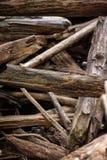 Lösa torra modeller av trä skapar grov sikt royaltyfri bild
