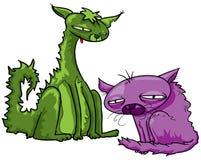 lösare katter Royaltyfri Illustrationer