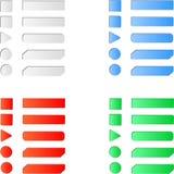 Löschen Sie farbigen Internet-Netzknopfsatz Lizenzfreie Stockfotografie