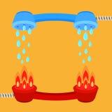 Löschen Sie Feuer backgrund aus Lizenzfreie Stockfotografie