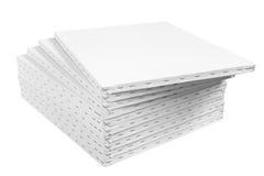 Löschen Sie streched Segeltuch auf Holzrahmen auf Weiß lizenzfreie stockfotografie