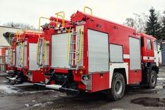 Löschfahrzeug-Feuerwehrmann Truck Stockfotos