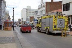 Löschfahrzeug in Punta Arenas, Chile stockbilder