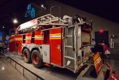 Löschfahrzeug von Ladder Company 3 vom Bodennullpunkt, New York Stockbild