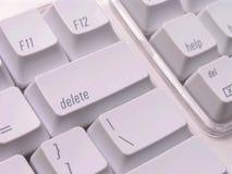 Löschtaste auf Tastatur Lizenzfreie Stockfotos